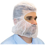 The Safety Zone Polypropylene Hoods, One Size, 100/BG, White