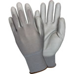 The Safety Zone Nylon Knit Gloves, PU-coated, X-Large, 12 Pairs/DZ, Gray