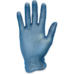 The Safety Zone Vinyl Gloves, Powder Free, 3 Mil, Large, 10BX/CT, Blue