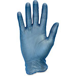 The Safety Zone Vinyl Gloves, Powder Free, 3 Mil, X-Large, 10BX/CT, Blue