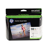 HP 110 Series Photo Value Pack - Print Cartridge / Paper Kit