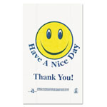 "Sweet Paper T16SMILEY Hi Density Plastic Smiley Face T Sacks, 12"" x 7"" x 22"""