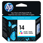 HP 14 Cyan/Magenta/Yellow Ink Cartridge ,Model C5010D ,Page Yield 200