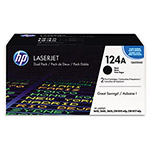 HP 124A Black Toner Cartridge, Model Q6000AD, Page Yield 2500