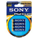 Sony STAMINA AM4PTB4A Platinum Alkaline AAA Size General Purpose Battery
