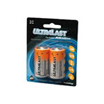 Ultralast Batteries Alkaline ULA2C - battery - C - alkaline x 2