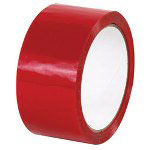 "Box Partners 2"" x 55 Yards Red Acrylic Carton Sealing Tape 2.2 Mil"