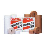 Central™ 72mm x 450' Reinforced Paper Gum Tape White