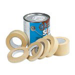 "Box Partners 3/4"" x 60 Yards General Grade Industrial Masking Tape 5.6 Mil"