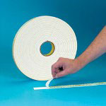 "Box Partners 1"" x 36 Yards Double Sided Polyethylene Foam Tape 1/16"" Thickness 2 Pack"