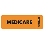 "Tabbies Medicare Insurance Labels, 3""x1"", Orange"