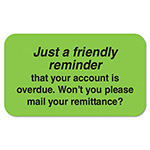"Tabbies Medical Labels, Friendly Reminder, 1 1/2"" x 7/8"", Fluorescent Green"