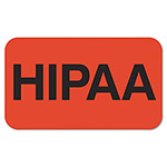 "Tabbies Medical Labels, Hipaa, 1 1/2"" x 7/8"", Fluorescent Red"