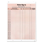 "Tabbies Patient Sign-In Label, 23 Lines, 8-1/2""-5/8"", 125 Forms"