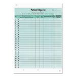 Tabbies Patient Sign-In Label Forms, 8 1/2 x 11 5/8, 125 Sheets/Pack, Green