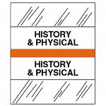 "Tabbies ""History & Physical"" Medical Chart Tabs, Orange"