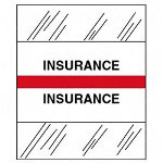 "Tabbies ""Insurance"" Medical Chart Tabs, Red"