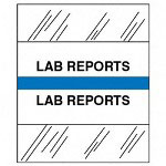 "Tabbies ""Lab Reports"" Medical Chart Tabs, Blue"