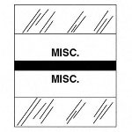 "Tabbies ""Misc."" Medical Chart Tabs, Black"