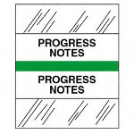 "Tabbies ""Progress Notes"" Medical Chart Tabs, Green"