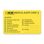 Tabbies Emergency Information Cards, ICE, 25/PK, Fluorescent Yellow