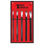 T and E Tools 5 Piece Long Cold Chisel Set