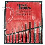 T and E Tools 10 Piece SAE Roll Pin Punch or Pilot Punch Set