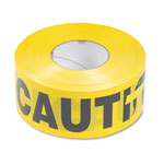 "Tatco ""Caution"" Barricade Safety Tape, Yellow; 3""w x 1,000 ft. Roll"