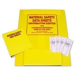 Tatco Yellow Plastic Rack with 3 Ring Binder f/Product Lit./OSHA Regulations, 24 x 30""