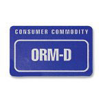 Tatco Shipping Label, ORM-D, 500/RL, Blue/White