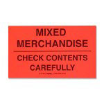 Tatco Shipping Label, Mixed Merchandise, 500/RL, Black/Red