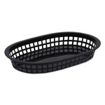 Tatco Food Basket, Black, Plastic, Large, 6 7/8 x 1 3/8