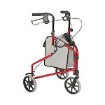 Tuffcare Freedom Cart, Three Wheeled Walker with Pouch, Blue