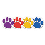 Teacher Created Resources Wear 'Em Badges, Paw Prints, 32/Pack