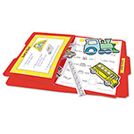 Teacher Created Resources Red Letter Size Stor-It File Folders, 1/3 Cut, Card Stock