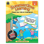 Teacher Created Resources Summertime Learning, Reading, Writing, Math, Grade K, 112 Pages