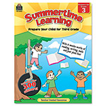 Teacher Created Resources Summertime Learning, Reading, Writing, Math, Grade 3, 112 Pages