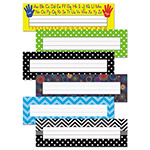 Teacher Created Resources Nameplate Set, 11.5 x 3.5, Assorted Colors, 216/Set