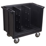 Cambro Adjustable Dish and Tray Cart, 2 Divisions, Black