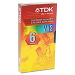 TDK VHS Video Tape, Premium Grade, Repeated Record/Erase Cycles, 6 Hours