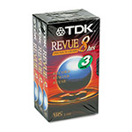 TDK VHS Video Tapes, Premium Grade, Repeated Record/Erase Cycles, 8 Hours, 3/Pack