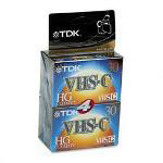 TDK Camcorder Video Tapes, VHS C, High Grade, 30/90 Minute, 4/Pack