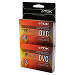 TDK Digital Video Cassette (Camcorder Tape), Superior Grade, 60/90 minute, 2/Pack