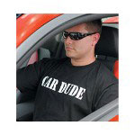 "Advantage Printwear Man's ""Car Dude"" Black Tee Shirt Large"