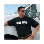 "Advantage Printwear Man's ""Toolman"" Black Tee Shirt Large"