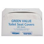 GEN Half-Fold Toilet Seat Covers, White, 14 3/4 X 16 1/2, 5000/carton