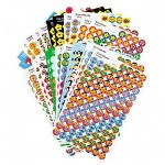 Trend Enterprises Assorted Superspots/Supershapes Stickers