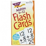 "Trend Enterprises Math Flash Cards, Addition, 0 To 12, 3""x5 7/8"""