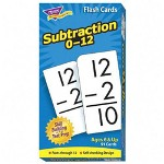 "Trend Enterprises Math Flash Cards, Subtraction, 0 To 12, 3""x5 7/8"""