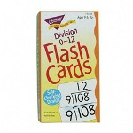 "Trend Enterprises Math Flash Cards, Division, 0 To 12, 3""x5 7/8"""